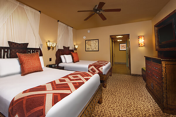 1 king bed  2 queen beds  1 queen size sleeper sofa and 1 twin size sleeper  chair  hearing accessible   visual alarms and notifications. Disney s Animal Kingdom Villas   Kidani Village   Walt Disney